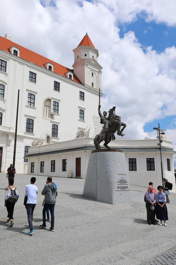 Bratislava grad buduje na skłonach Carpathians znakomity widok dolina Danube otwiera od tutaj zdjęcie stock