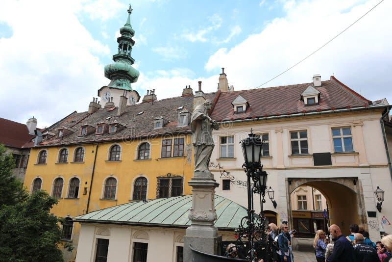 Bratislava grad buduje na skłonach Carpathians znakomity widok dolina Danube otwiera od tutaj obrazy stock