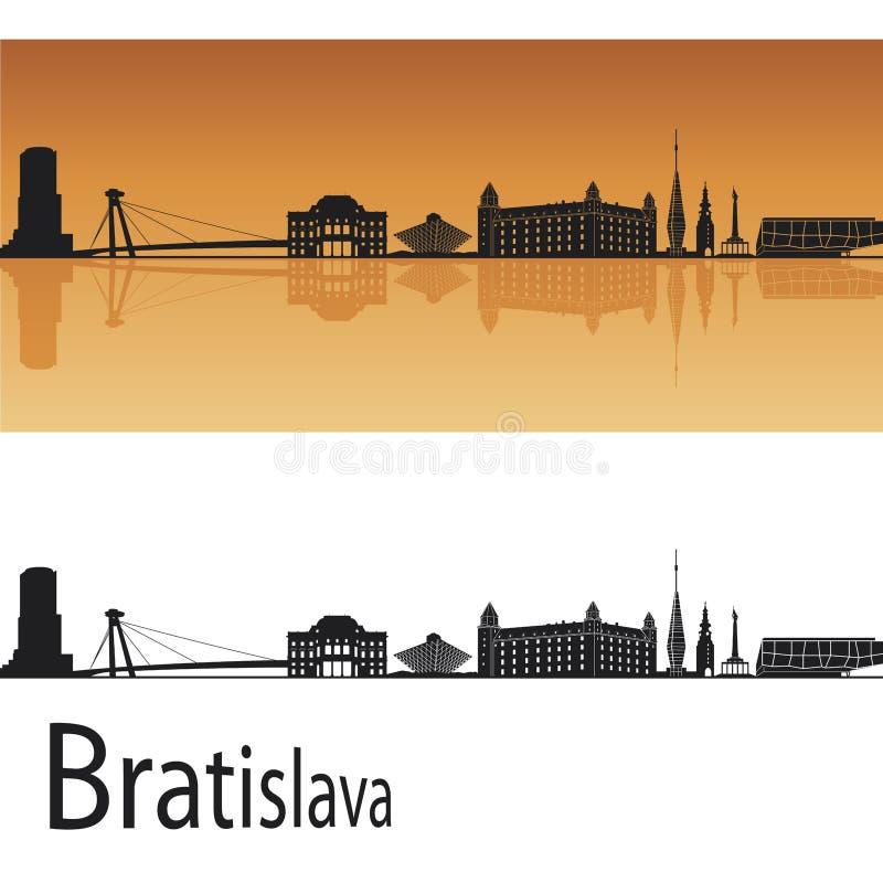 bratislava horisont royaltyfri illustrationer