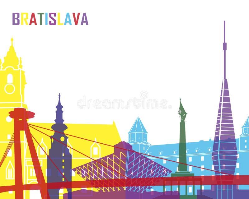 Bratislava horisontpop royaltyfri illustrationer