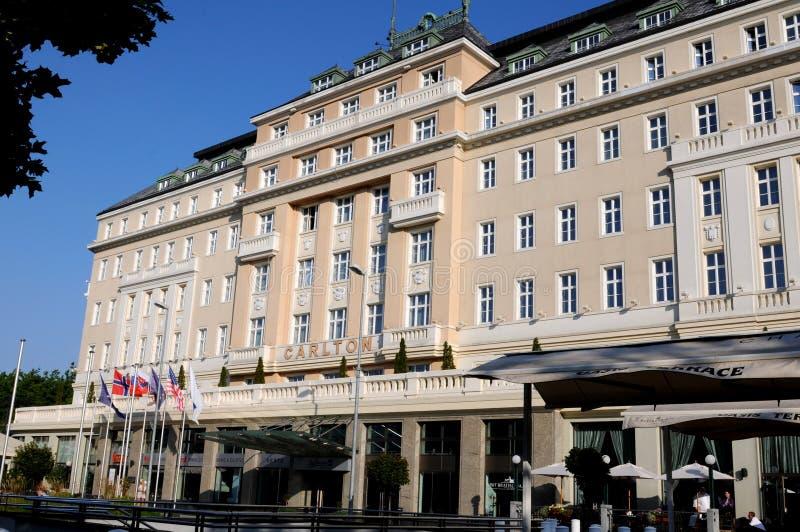 Bratislava hotel Carlton. Luxurious SAS Radisson Carlton hotel in Bratislava (Slovakia royalty free stock photo