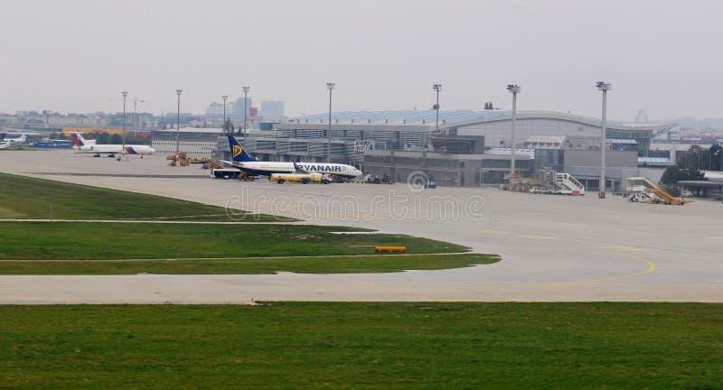 Bratislava International Airport in Slovakia stock photography
