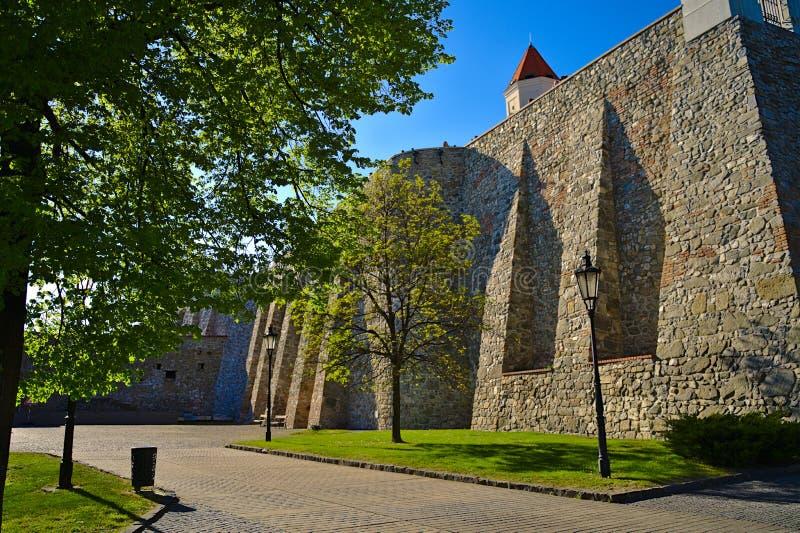 Bratislava kasztelu widok na ramparts obrazy royalty free