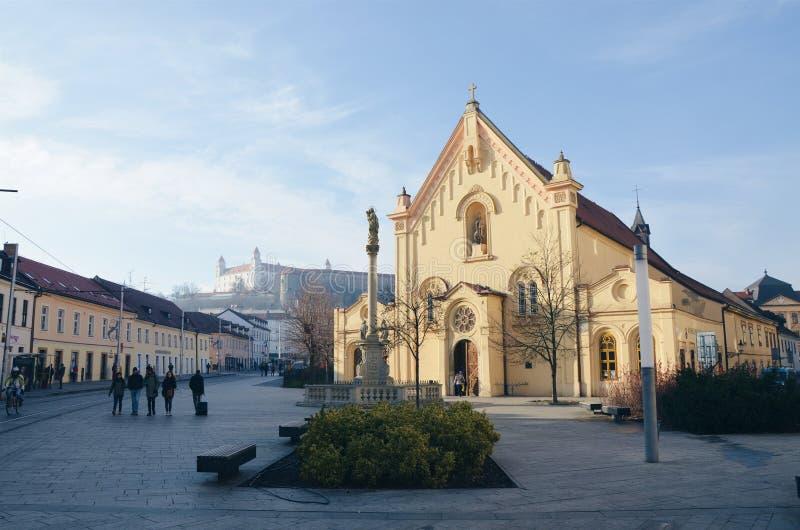 Bratislava kyrka royaltyfri fotografi