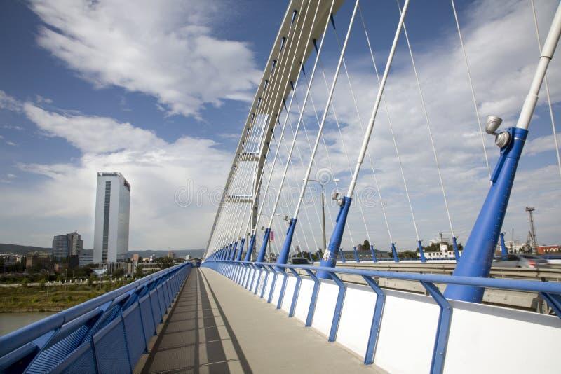 Bratislava - Modern Apollo Bridge Stock Photos