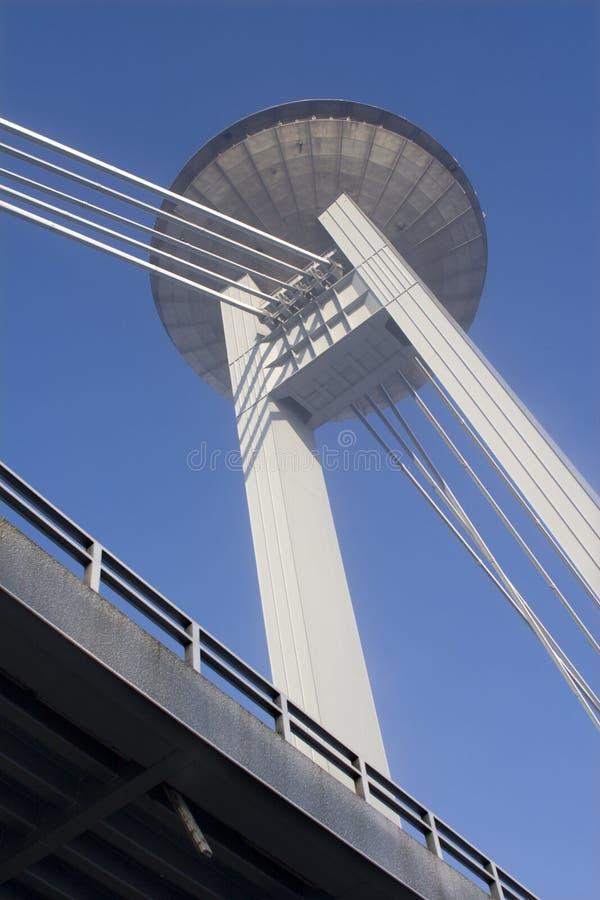 bratislava mosta wierza obrazy royalty free