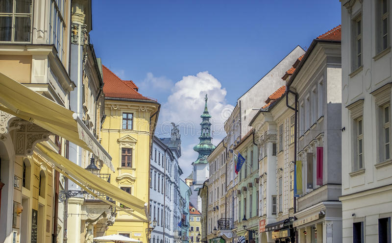 Bratislava ,Old town. Look at the old part of Bratislava, with its friendly and calm facades royalty free stock photography