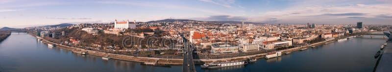 Bratislava Panorama royalty free stock photography