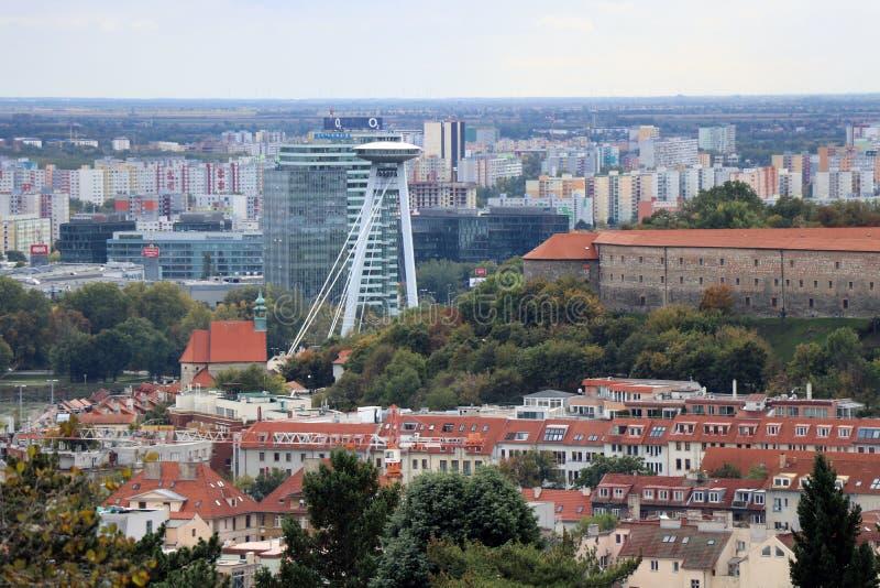 Bratislava perspektiv arkivfoton