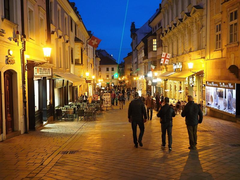 Bratislava is the political, cultural and economic centre of Slovakia. The first known permanent settlement of the area began with the Linear Pottery Culture stock image