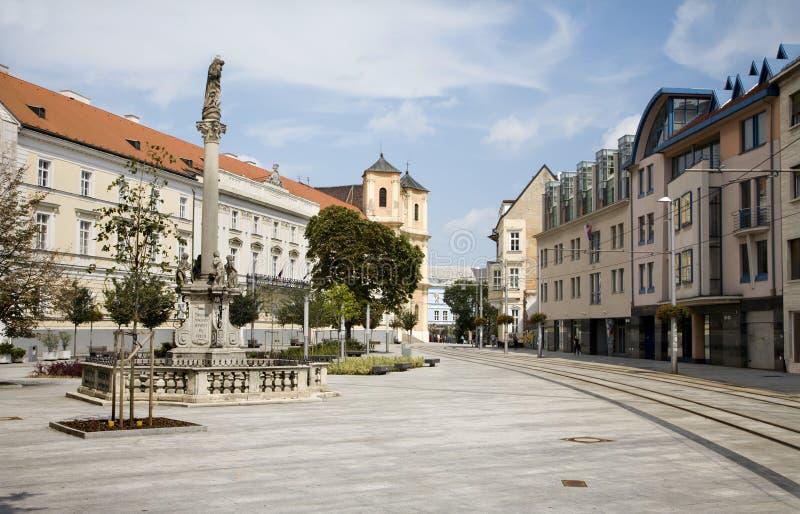 Bratislava - quadrato di SNP immagine stock