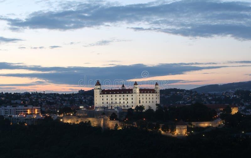 bratislava slott slovakia arkivfoton