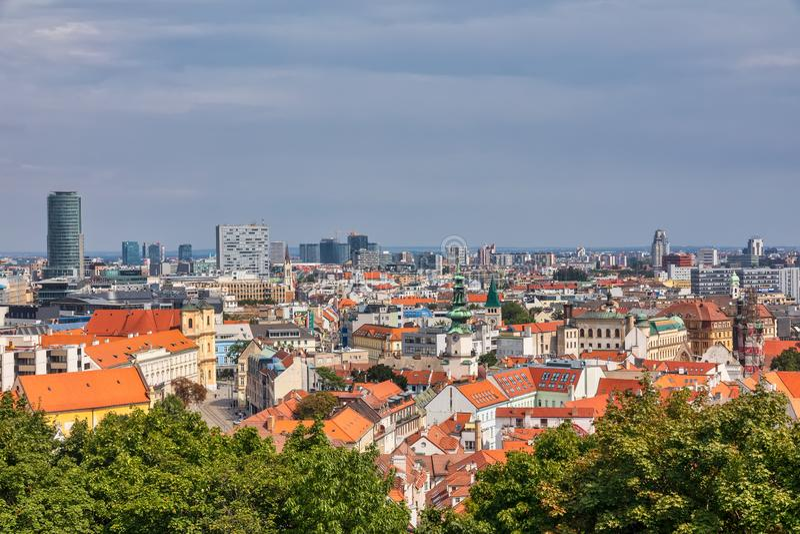 Panoramic view of the city of Bratislava. Bratislava is a capital of Slovakia stock image