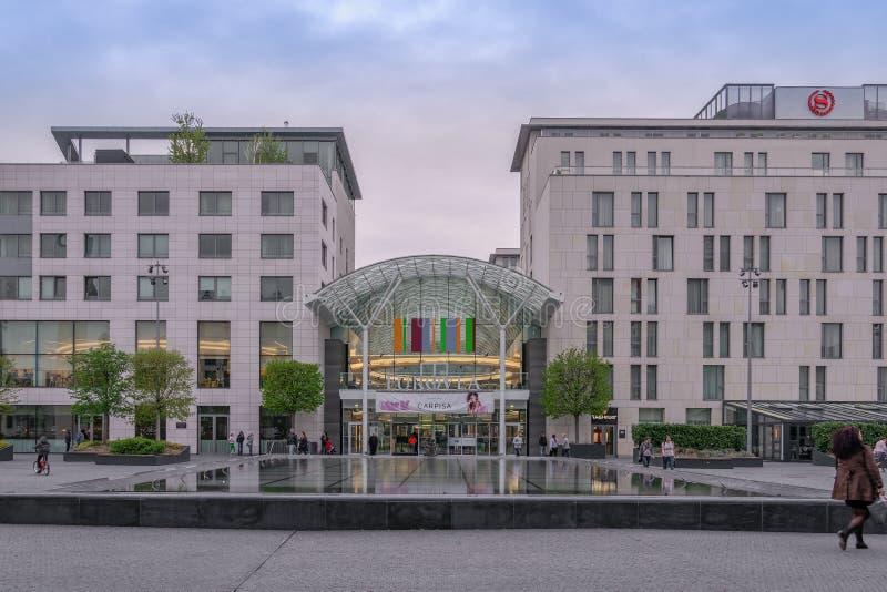 Bratislava, Slovakia Eurovea shopping center facade. royalty free stock photo