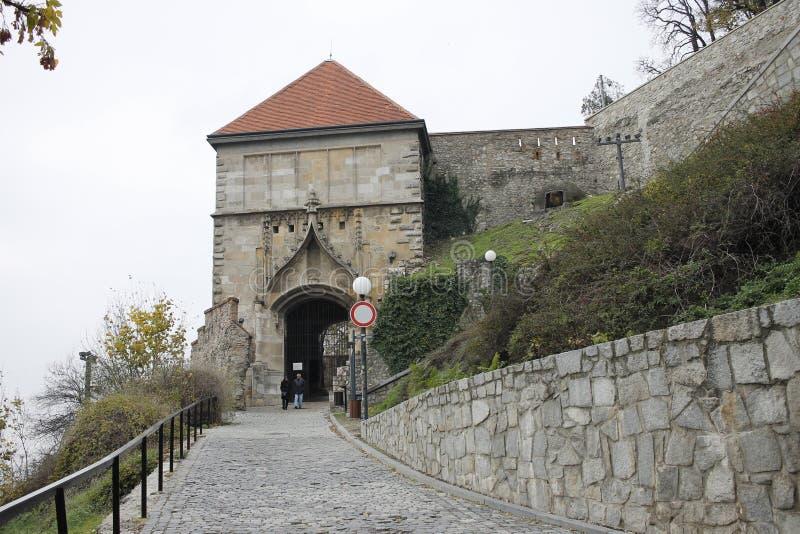 Centrum of Bratislava Old Town, Bratislava castle. Bratislava, Slovakia. November 5, 2018. Bratislava castle  in city centrum of Bratislava, Slovakia stock photos