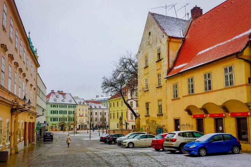 Bratislava Old Town streets, Slovakia royalty free stock images