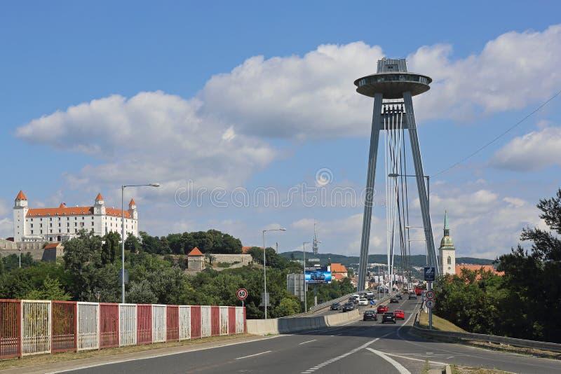 Bratislava Slovakia SNP Bridge royalty free stock photos