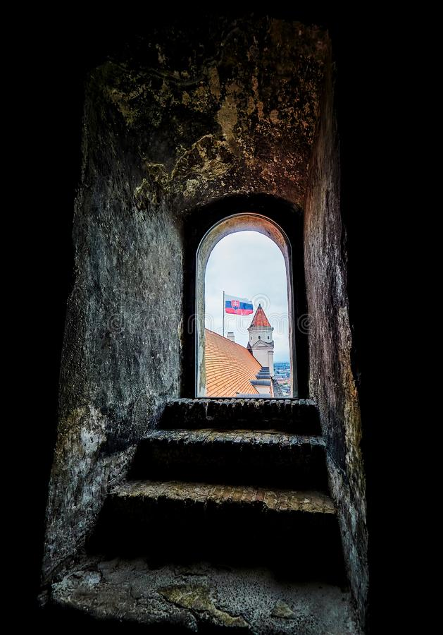 BRATISLAVA, SLOVAQUIE - 1ER SEPTEMBRE 2017 Château de Bratislava Hrad/musée national d'histoire, Bratislava, Slovaquie image stock