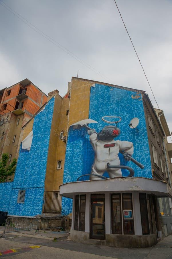 Bratislava, Slovaquie graffiti Beau modèle moderne sur la façade du bâtiment images libres de droits