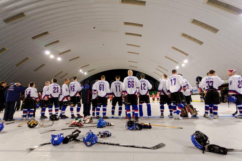 Bratislava, Slovaquie, 11-14 novembre 2010 : coupe du monde du 1er maître dans la rue et l'hockey de boule photo stock