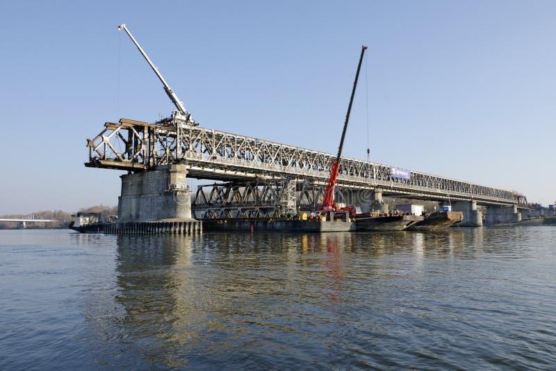 Bratislava Stary la plupart de pont démontant images stock