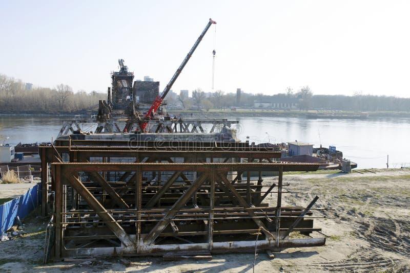 A Bratislava Stary a maioria de ponte que desmonta imagem de stock royalty free