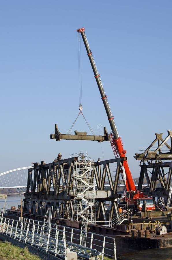 A Bratislava Stary a maioria de ponte que desmonta imagem de stock
