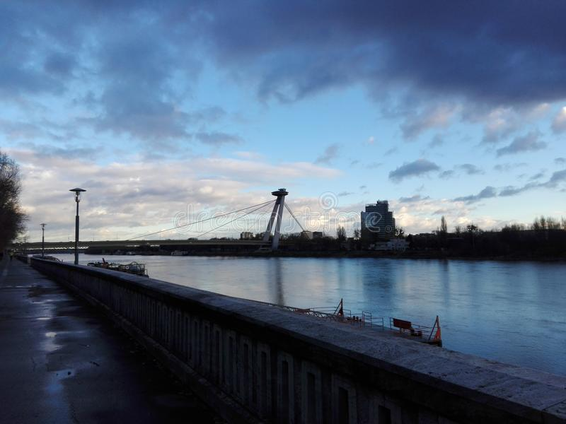 Bratislava UFO tower stock photo