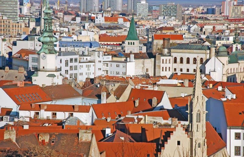 Bratislava - vista do castelo imagens de stock