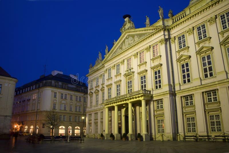 bratislava wieczór pałac primacial obrazy royalty free