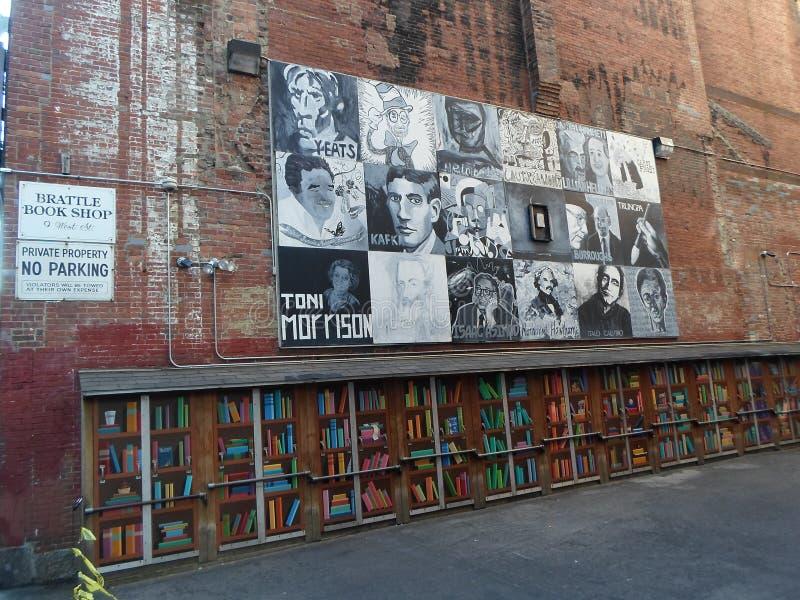 Brattle Book Shop, West Street, Boston, Massachusetts, Stati Uniti immagine stock
