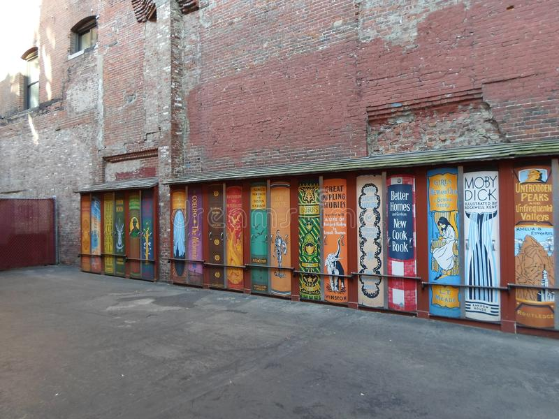 Brattle Book Shop, West Street, Boston, Massachusetts, Stati Uniti fotografia stock