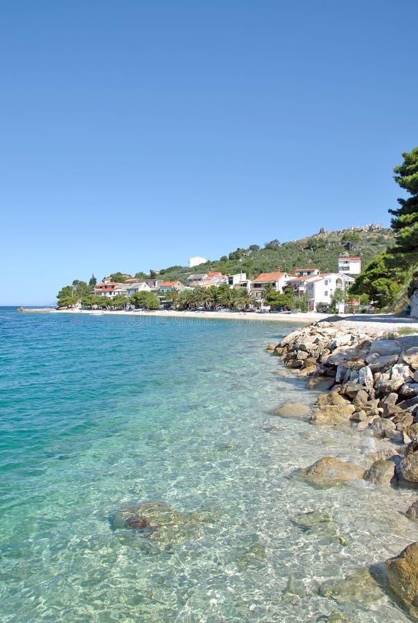 Bratus, Makarska la Riviera, Dalmatie, Croatie photo stock