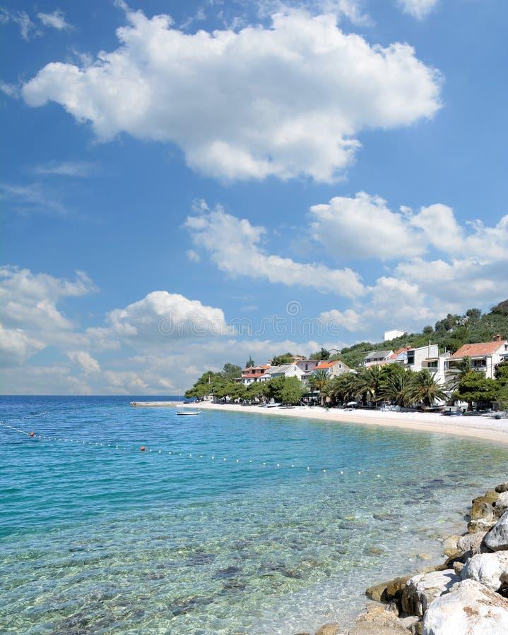 Bratus, Makarska la Riviera, Mer Adriatique, Croatie photo libre de droits