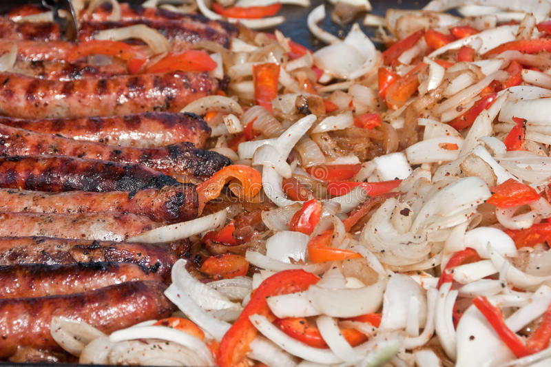 Download Bratwurst and Fixings stock photo. Image of outdoor, meal - 20483198