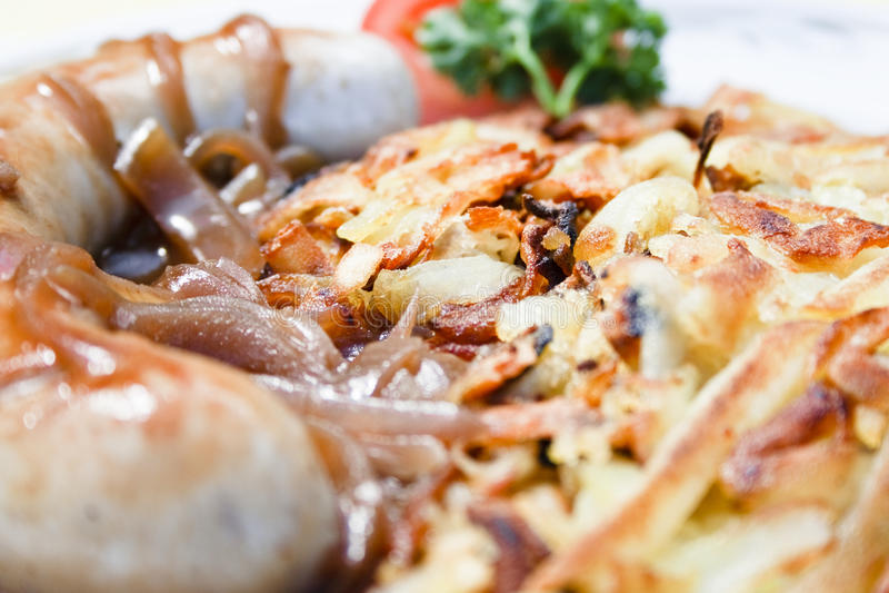 Download Bratwurst and rosti stock image. Image of junk, dinner - 12278685
