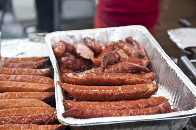 Bratwurst Tray royalty free stock photos