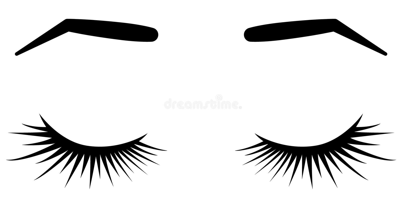 Brauen und Peitschen Vektorillustration von Peitschen und von Brauen Für Schönheitssalon Peitschenerweiterungen Hersteller, Braue stock abbildung