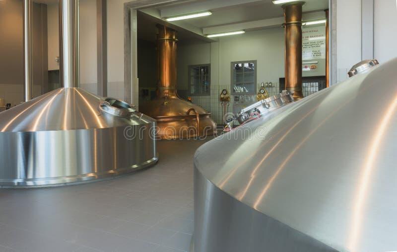 Brauerei bei Brewery De Brabandere in Belgien. stockbilder
