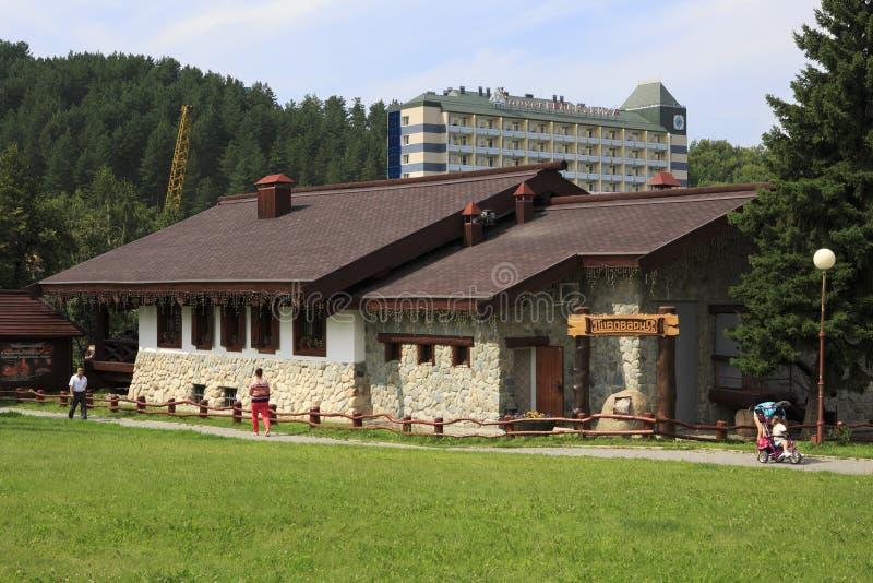 Brauerei in Belokuriha-Erholungsort. Altai. lizenzfreies stockfoto