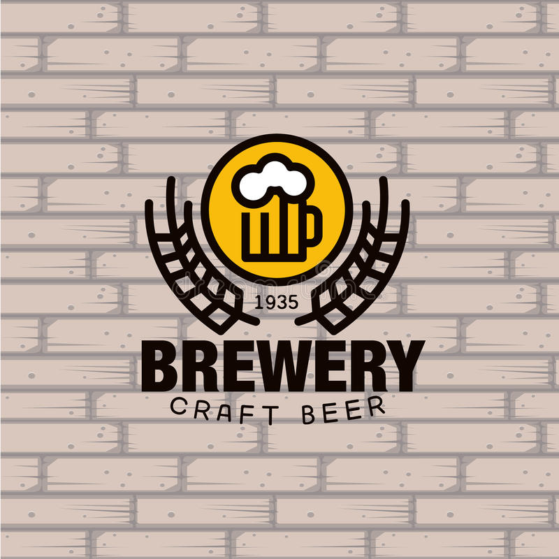 Brauerei-Logo Auch im corel abgehobenen Betrag lizenzfreie abbildung