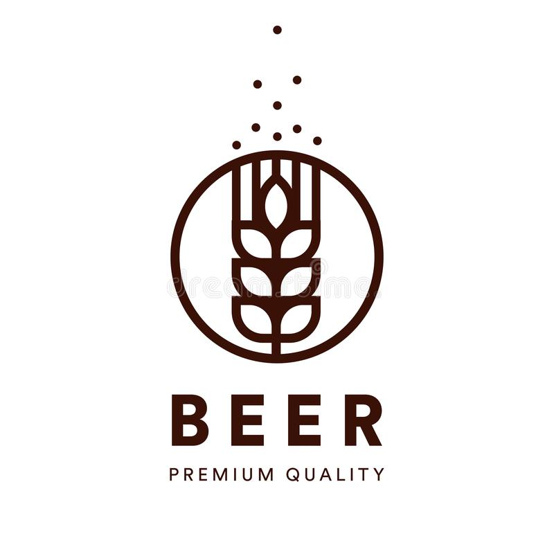 Brauereiemblem Handwerksbier-Vektorlogo Erstklassiges Qualitätsale, alkohol Getränkfirmenzeichen lizenzfreie abbildung