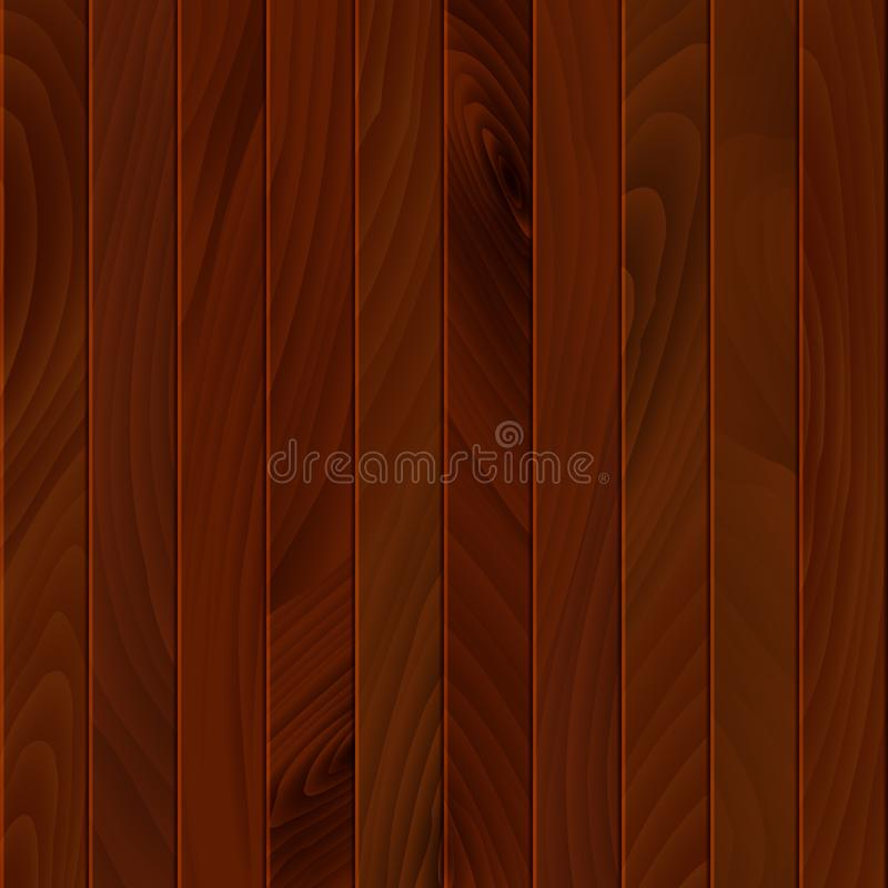 Braune Holzstruktur Holzfläche des Fußbodens oder der Wand Holzhintergrund oder -hintergrund Vector-Illustration vektor abbildung