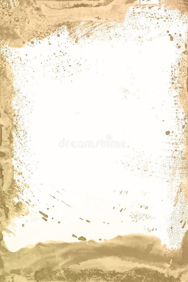 Brauner Farbenhintergrund des Aquarells Magische Hand der Kunst gezeichnet lizenzfreies stockbild