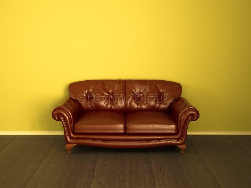 Braunes Leder der Couch vektor abbildung