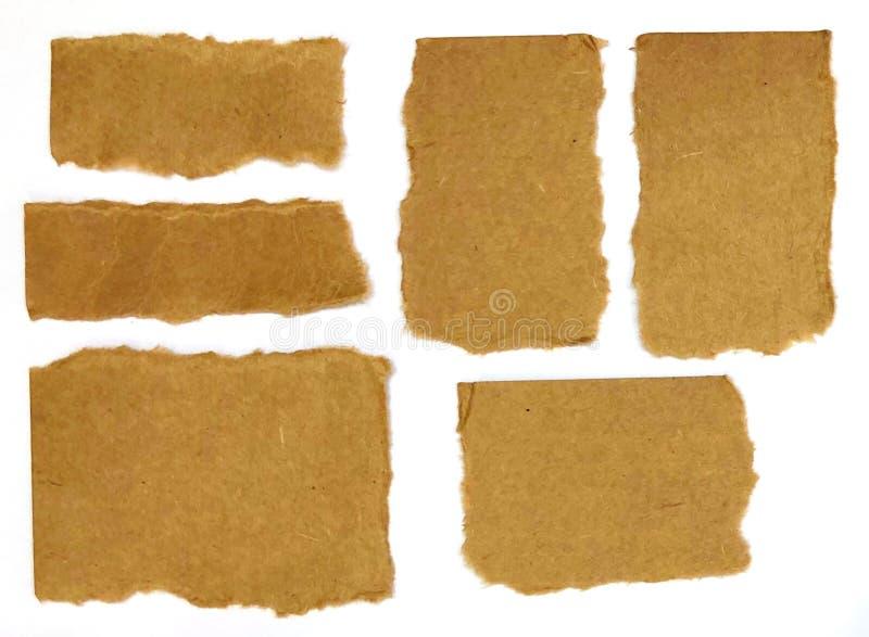 Braunes Packpapier lizenzfreie stockbilder