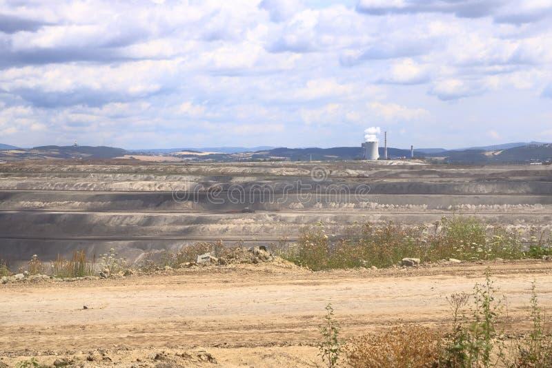 Braunkohlebergwerk in der Nähe von Blevice/Bilina in der Tschechischen Republik stockfoto