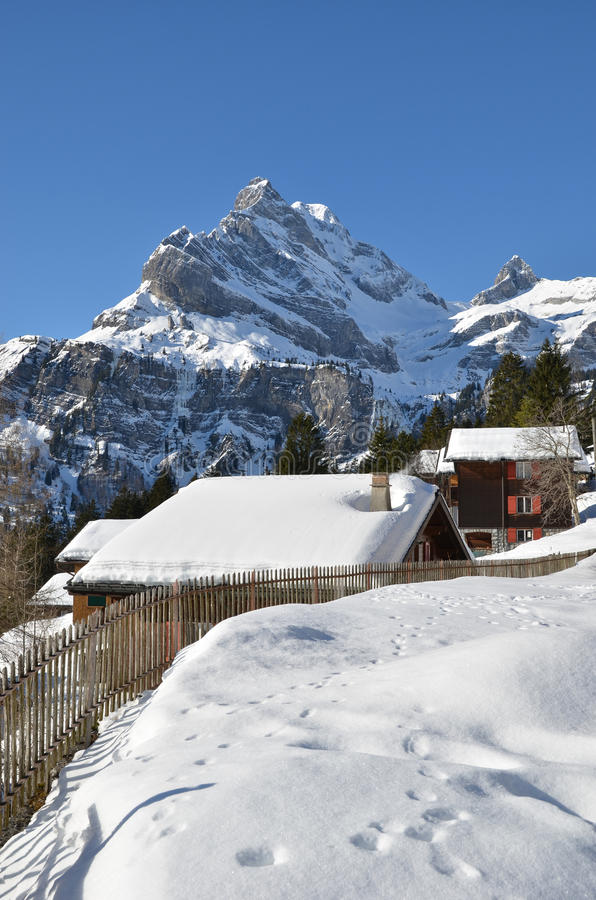 Braunwald,瑞士 库存照片