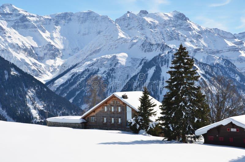braunwald Швейцария стоковое фото