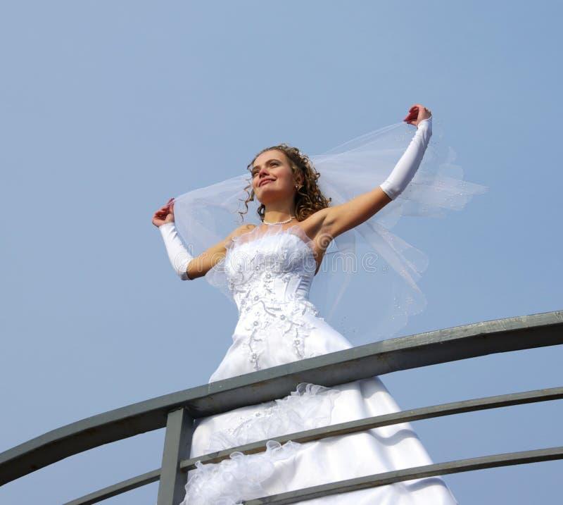 Braut auf dem Wind stockfotos